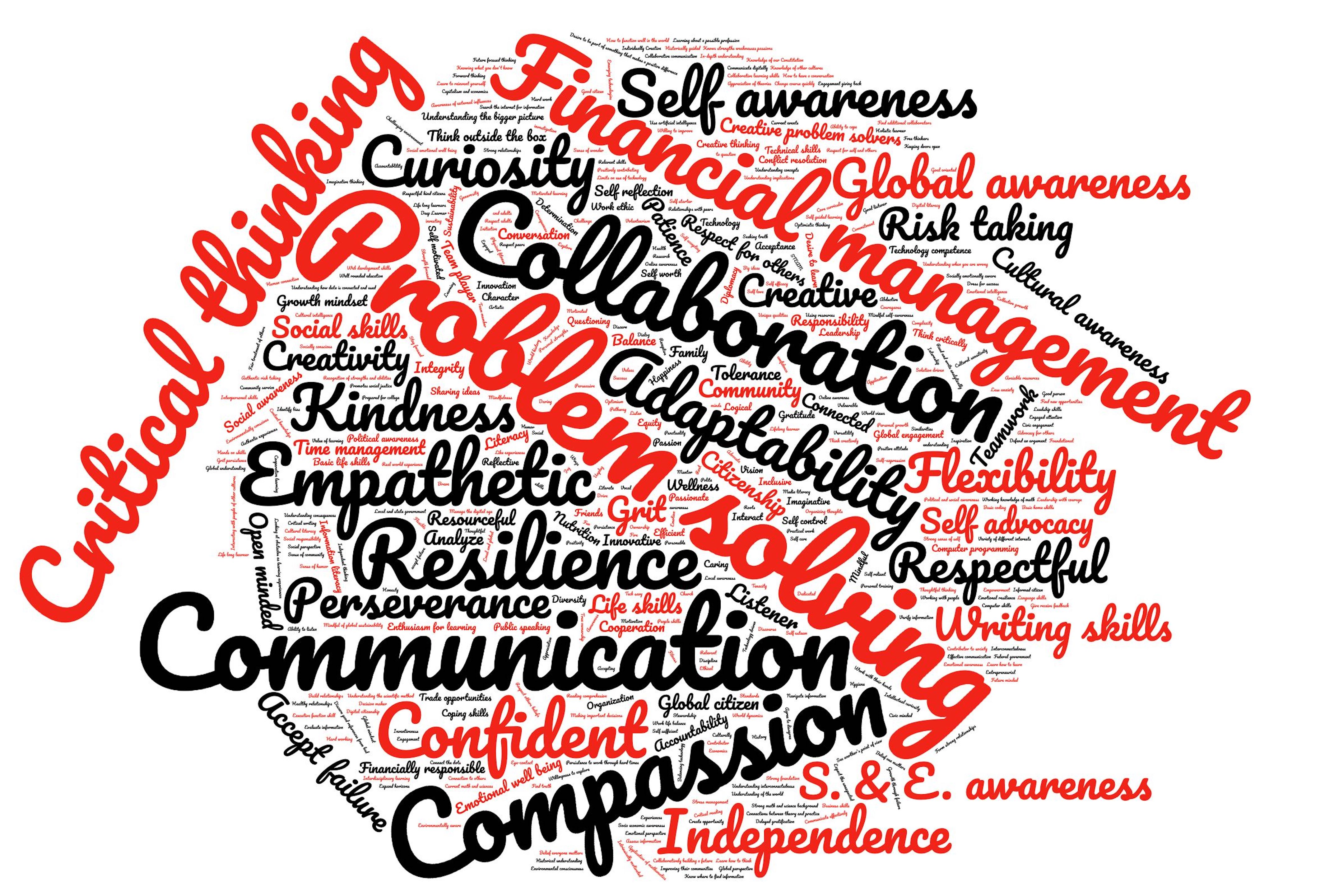 Word Cloud of combined faculty, parent and community responses